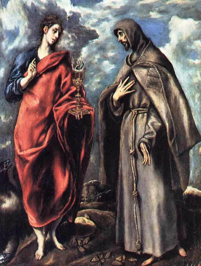 福音書記者聖ヨハネと聖フランチ...